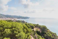 Пляжи Косты Brava в Lloret de mar, Испании стоковые изображения rf
