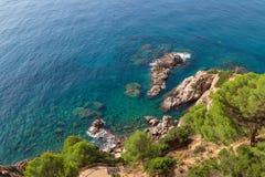 Пляжи Косты Brava в Lloret de mar, Испании стоковые фотографии rf