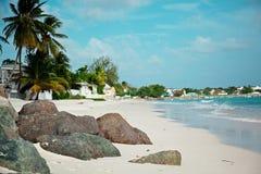 Пляжи острова Барбадос карибское море стоковое изображение rf