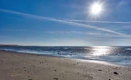 Пляжи острова wangerooge в Северном море в Германии стоковые изображения