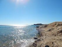 Пляжи природы курорта в Египте Sharm Стоковые Изображения RF