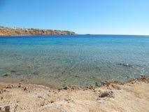 Пляжи природы курорта в Египте Sharm Стоковое Изображение