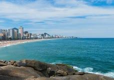 Пляжи Ipanema и Leblon Стоковое Фото
