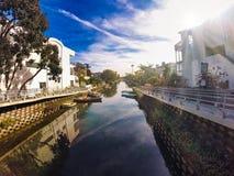 пляжные домики Венеции в l A стоковое фото