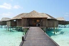 Пляжные домики острова Мальдивов Стоковая Фотография RF