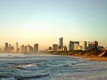 Пляжный в утре стоковое фото