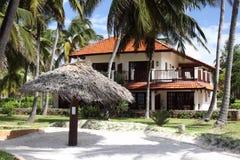пляжный комплекс zanzibar стоковые фото