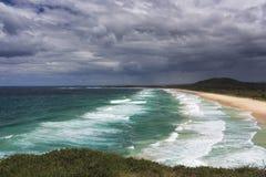 Пляж Австралия прибоя стоковые изображения rf