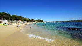 Пляж акулы, парк Нильсена, Воклюз, Сидней, Австралия Стоковые Изображения RF