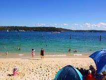 Пляж акулы, парк Нильсена, Воклюз, Сидней, Австралия Стоковые Изображения