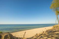 Пляж Балтийского моря в Orzechowo, Польше Стоковые Фото
