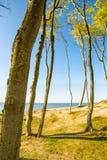 Пляж Балтийского моря в Orzechowo, Польше Стоковое Изображение