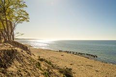 Пляж Балтийского моря в Orzechowo, Польше Стоковая Фотография
