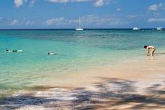 пляж Барбадосских островов Стоковая Фотография RF
