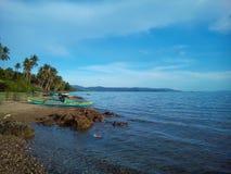 Пляж берега моря Стоковое Изображение