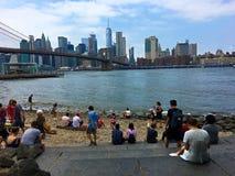 Пляж Бруклина на Dumbo стоковое изображение rf