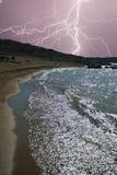 пляж бурный Стоковое фото RF