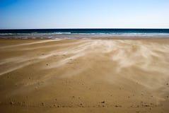 пляж ветреный Стоковая Фотография