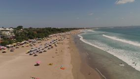 Пляж вида с воздуха, Бали, Kuta видеоматериал