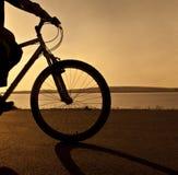пляж восхода солнца Стоковая Фотография