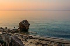 Пляж восхода солнца Стоковая Фотография RF