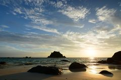 Пляж восхода солнца Ko Lipe Провинция Satun Таиланд Стоковые Фотографии RF