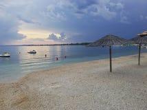 Пляж в Вире, Хорватии Стоковое Изображение RF