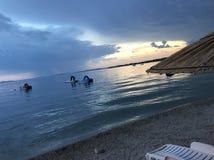 Пляж в Вире, Хорватии Стоковая Фотография