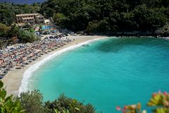 Пляж в Греции Стоковая Фотография RF