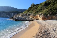Пляж в греческом острове Стоковая Фотография