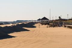 пляж в зиме Стоковое Изображение RF