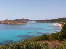 Пляж в Кальяри, Сардинии стоковые изображения rf