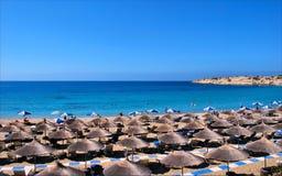 Пляж в Кипре Стоковое Фото