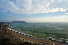 Пляж в Лиме Стоковое Изображение RF
