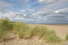 Пляж в Линкольншире, Великобритании Стоковое Фото