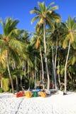 Пляж в Мальдивыы Стоковое фото RF