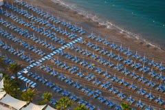 Пляж в побережье Амальфи Стоковое фото RF