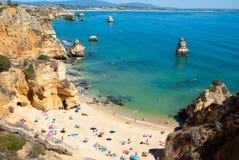 Пляж в Португалии Стоковая Фотография