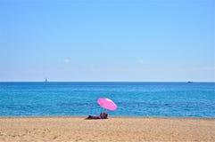 Пляж в южном Kefalonia, Ionian острова Skala, Греция Стоковые Фотографии RF