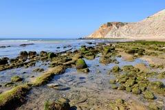 Пляж в Algarve, Португалии Стоковое Изображение RF