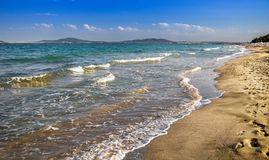 Пляж в Bourgas Стоковое Изображение