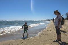 Пляж в Famagusta Gazimagusa, Кипре Стоковые Фотографии RF
