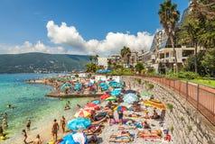 Пляж в Herceg Novi Стоковое Изображение