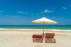 Пляж в Hoi Вьетнам Стоковая Фотография