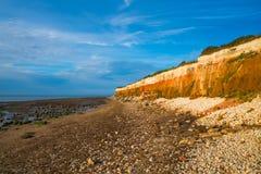 Пляж в Hunstanton, Норфолке, Великобритании стоковые изображения