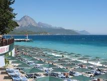 Пляж в Kemer, Турции Стоковые Изображения