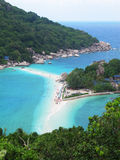 Пляж в Koh Tao, Таиланде. Стоковое Изображение