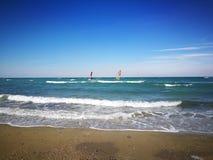 Пляж в Neoi Epivates стоковое фото