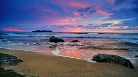 Пляж в Padang западном Sumatera Стоковые Фотографии RF