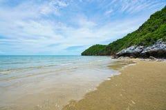 Пляж в Pran Buri, Таиланде стоковые фото